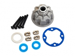 Traxxas 8681X Carrier, differential (aluminum)/ x-ring gas..
