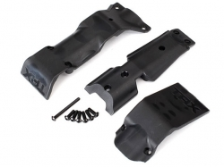 Traxxas 8637 Skid plate set, front/ skid plate, rear/ 3x10..