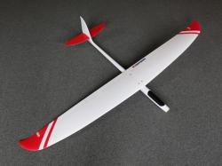 Balance 200 Weiss/Rot ARF- Voll GFK Segler 200cm von Hepf
