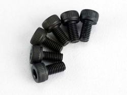 Traxxas 2554 Screws, 3x6mm cap-head machine (hex drive) (6)