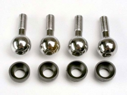 Traxxas 4933 Pivot balls (4)/ pivot ball cap bushings (4)