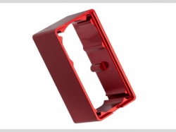 Traxxas 2253 Servo case, aluminum (red-anodized) ( middle)..