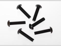 Traxxas 3929 Screws, 4x18mm button-head machine (h ex driv..