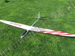RCRCM E-Tomcat Spw.2.6m GFK+ Weiss/Rot mit Schutztaschen