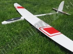 RCRCM E-Hornet Spw. 2,0m CFK(Carbon) Weiss/Rot