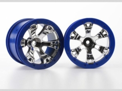 """Traxxas 7273 Wheels Geode 2.2""""(chrome blue bead)"""