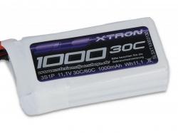 SLS XTRON 1000mAh 3S1P 11.1V 30+/60C LiPo-Akku
