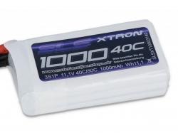 SLS XTRON 1000mAh 3S1P 11.1V 40+/80C LiPo-Akku
