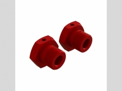 ARRMA AR310904 Aluminum Wheel Hex 17mm Red (2)