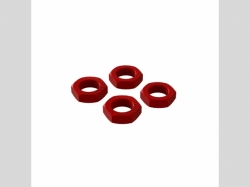 ARRMA AR310906 Aluminum Wheel Nut 17mm Red (4)