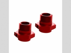 ARRMA AR310484 Wheel Hex Alumn 17mm/16.5mm Red (2)