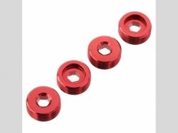 ARRMA AR330196 Nut Front Hub Aluminum Red (4)