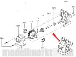 ZDRacing Getriebe hinten komplett Modelle 1:10
