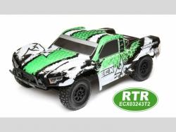 ECX Shortcourse-Truck TORMENT Grün/Weiss 1:10 4WD EP RTR, ..