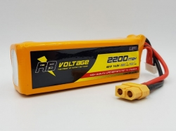RB Voltage 2600mAh 4S 50C XH/XT60 LiPo-Akku