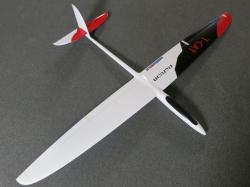 RCRCM T-Cat Spw. 1.88m CFK Rot/Weiss mit Schutztaschen, Se..