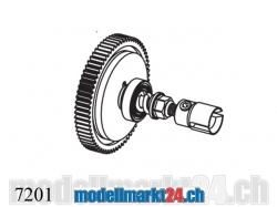 ZDRacing 7201 Reduktionsgetriebe komplett