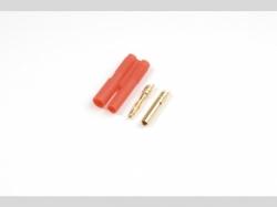 2.0mm Goldstecker mit Gehäuse 4x