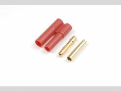 4.0mm Goldstecker mit Gehäuse 4x