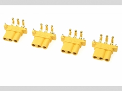 Connector - MR-30PW 3-Polig - Goldkon takten - Stecker - 4..