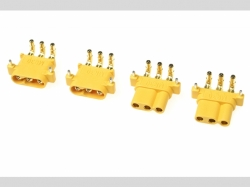Connector - MR-30PW 3-Polig - Goldkon takten - Stecker + B..