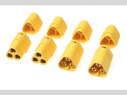 Connector - MT-60 3-Polig - Goldkonta kten - Stecker + Buc..