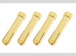 Steckverbinder - 4.0 Buchse to 5.0mm Stecker - Goldkontakt..
