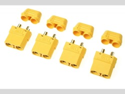 Steckverbinder XT-90Hm/Kappe Buchs.4x