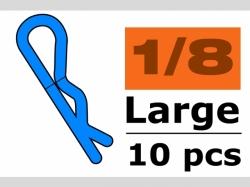 Karosserieklamm. 1/10 L Blau 45° 10x