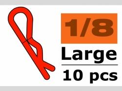 Karosserieklamm. 1/10 L Rot 45° 10x