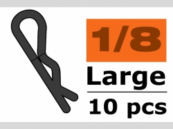 Karosserieklamm. 1/10 L Schw.45° 10x