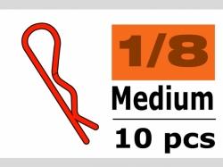 Karosserieklamm. 1/10 M Rot 45° 10x