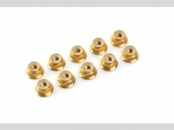 Sechskantmut. mit Bund Gold m3 10x
