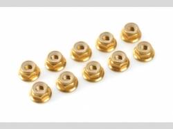 Sechskantmut. mit Bund gold M4 10x
