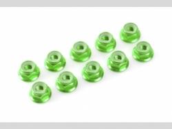 Sechskantmut. mit Bund grün M4 10x