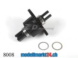 ZDRacing 8008 Differentialgetriebe komplett CNC vorne/hinten