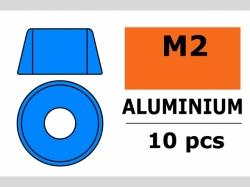 Unterlegscheibe M2 Zylind. Blau 10x