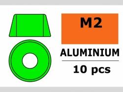 Unterlegscheibe M2 Zylind. Grün 10x