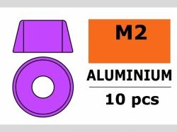Unterlegscheibe M2 Zylind. Violet 10x