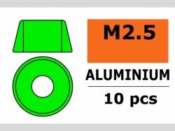 Unterlegscheibe M2.5 Zyl. Grün 10x