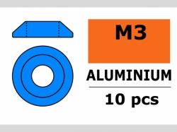 Unterlegscheibe M3 Lins. Blau 10x