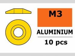 Unterlegscheibe M3 Lins. Gold 10x