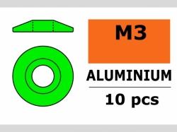 Unterlegscheibe M3 Lins. Grün 10x
