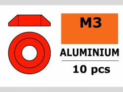 Unterlegscheibe M3 Lins. Rot 10x