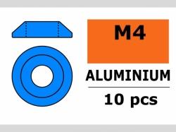 Unterlegscheibe M4 Lins. Blau 10x