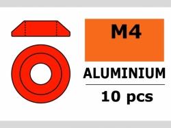 Unterlegscheibe M4 Lins. Rot 10x