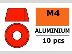 Unterlegscheibe M4 Zylind. Rot 10x