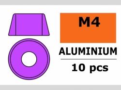 Unterlegscheibe M4 Zylind. Violet 10x