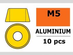 Unterlegscheibe M5 Zylind. Gold 10x
