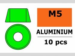 Unterlegscheibe M5 Zylind. Grün 10x
